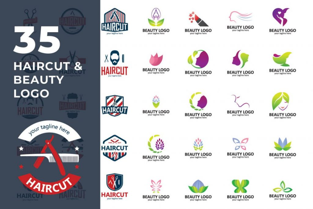 200 Multi-Purpose Logo Design Collection - Hair LOGO