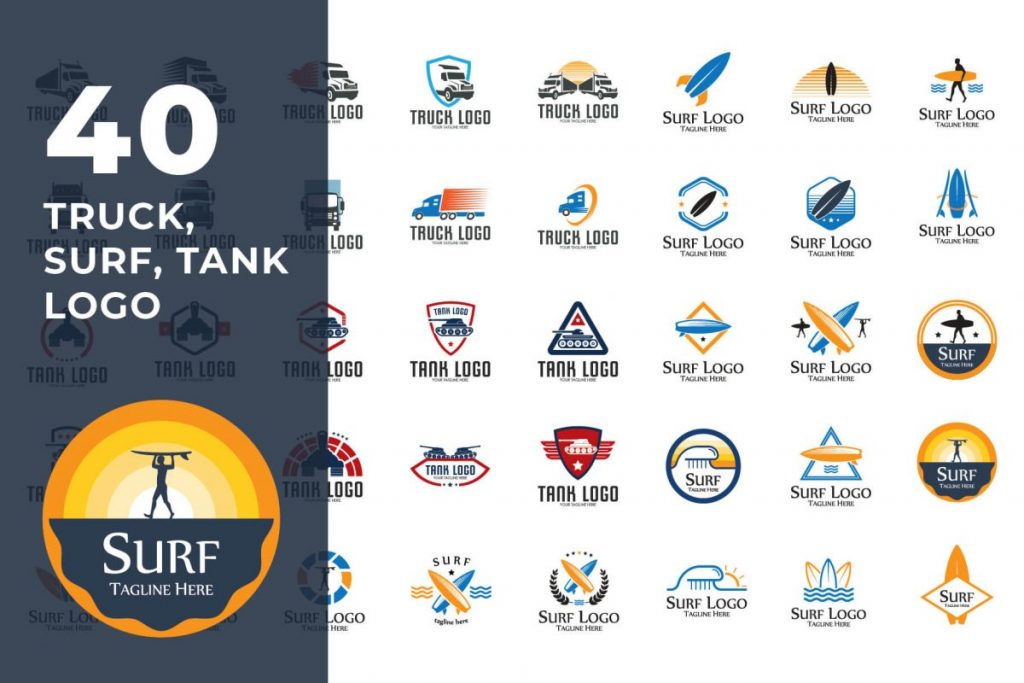 200 Multi-Purpose Logo Design Collection - TRUCK LOGO