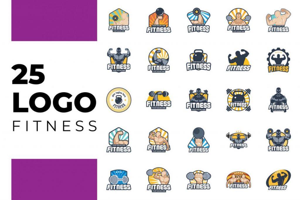200 Professional Branding Logo Design - FITNESS LOGO