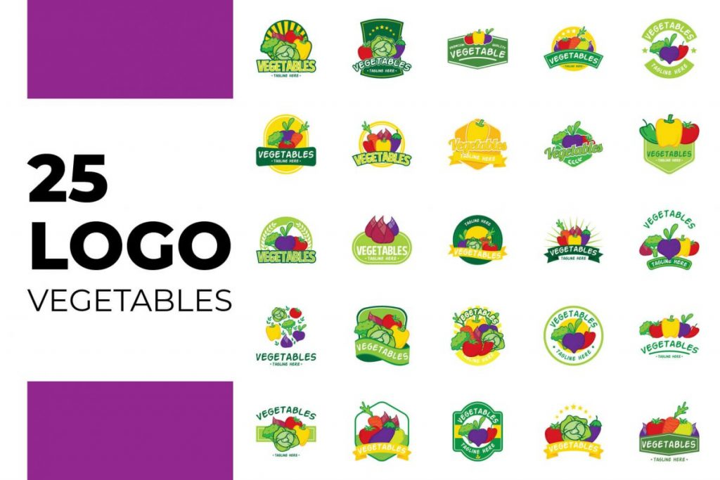 200 Professional Branding Logo Design - VEGETABLES LOGO