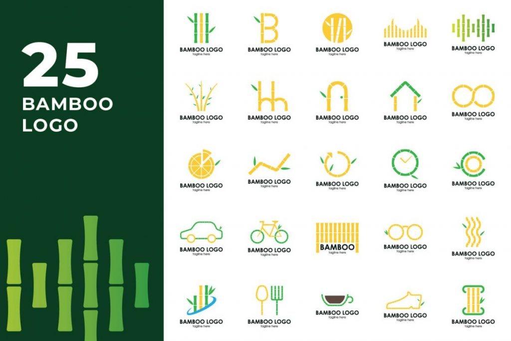 210 Cool & Creative Logo Design Bundle - BAMBOO LOGO