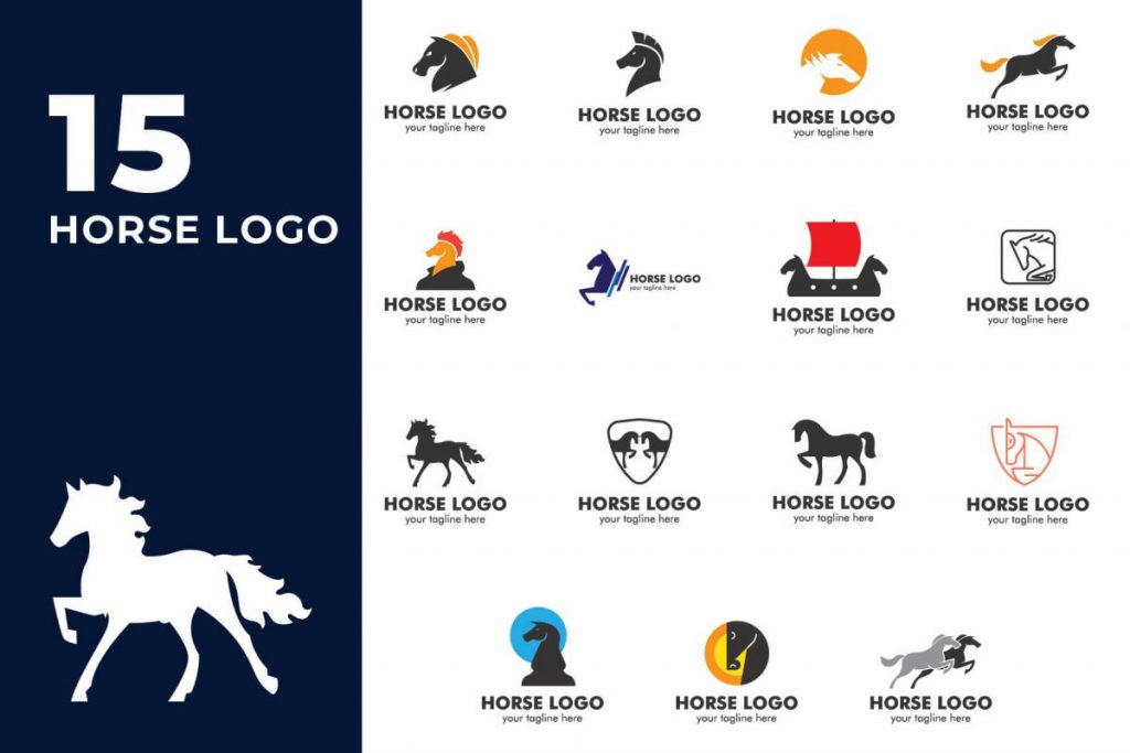 210 Cool & Creative Logo Design Bundle - HORSE LOGO