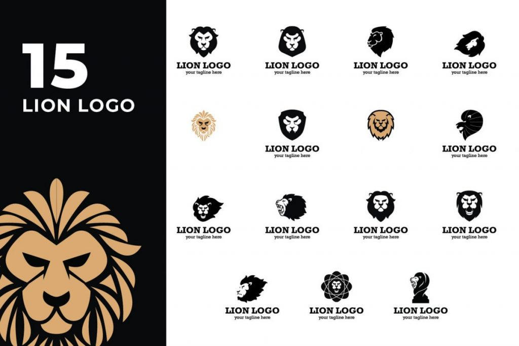 210 Cool & Creative Logo Design Bundle - LION LOGO