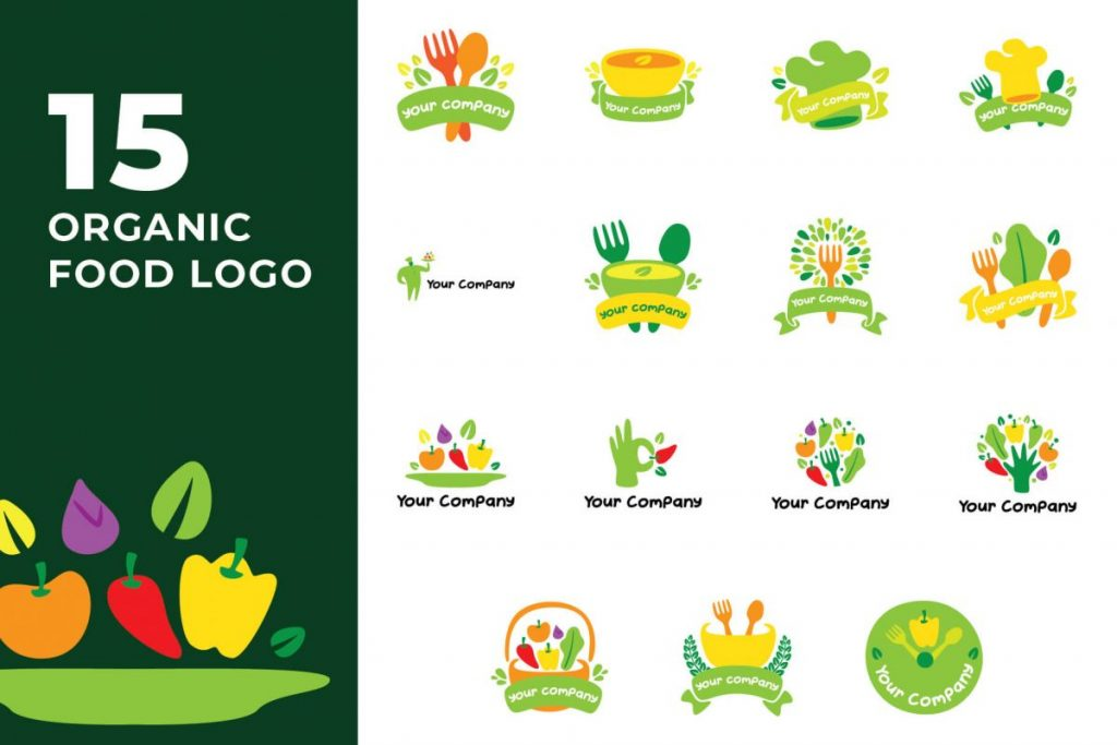210 Cool & Creative Logo Design Bundle - ORGANIC FOOD LOGO
