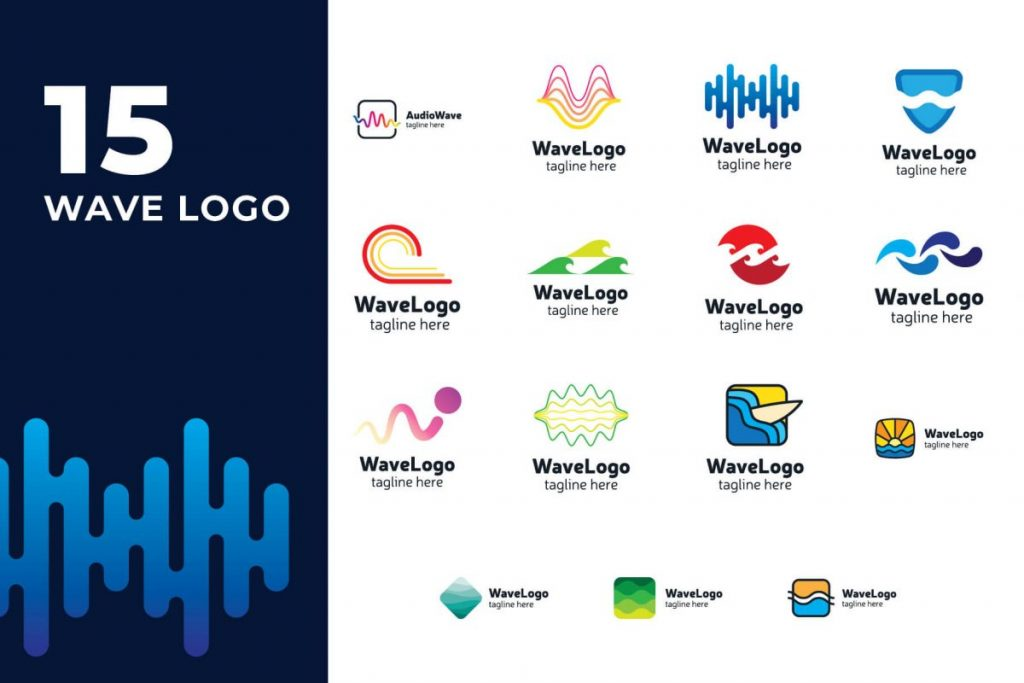 210 Cool & Creative Logo Design Bundle - WAVE LOGO