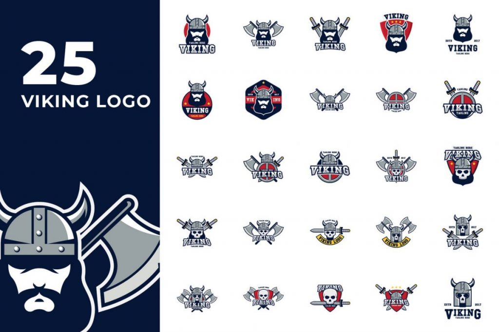 210 Cool & Creative Logo Design Pack - VIKING LOGO