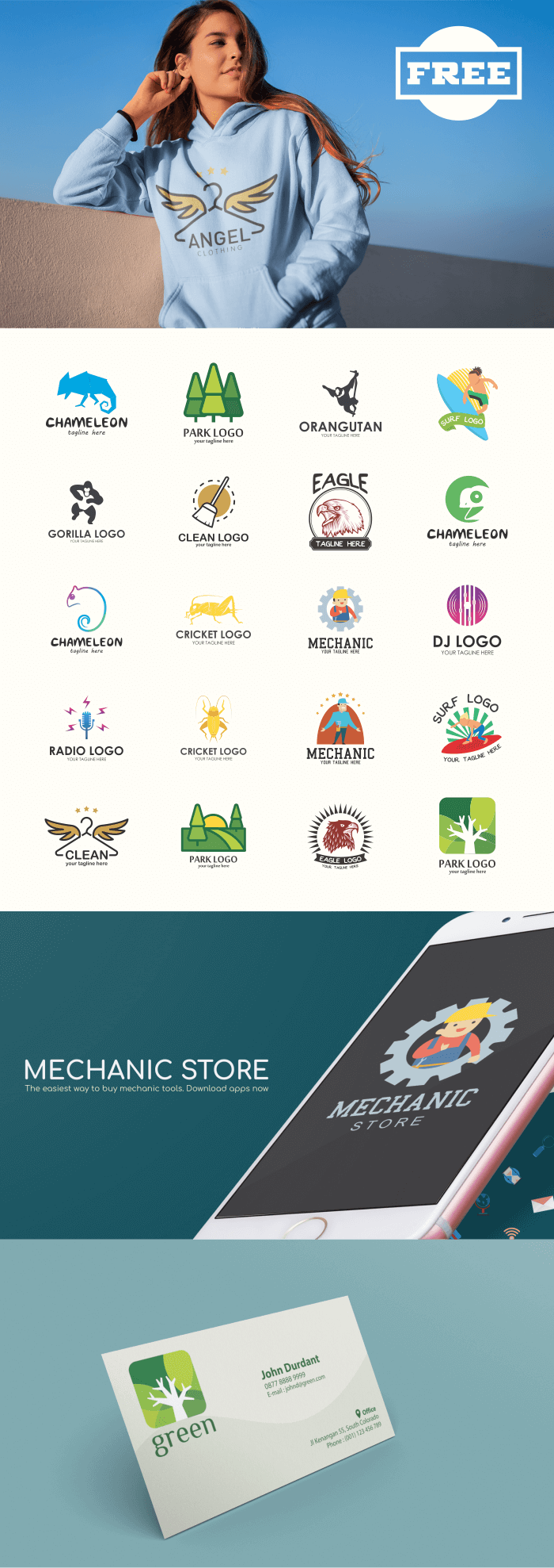 FREE - 20 Creative Logo Design Collection