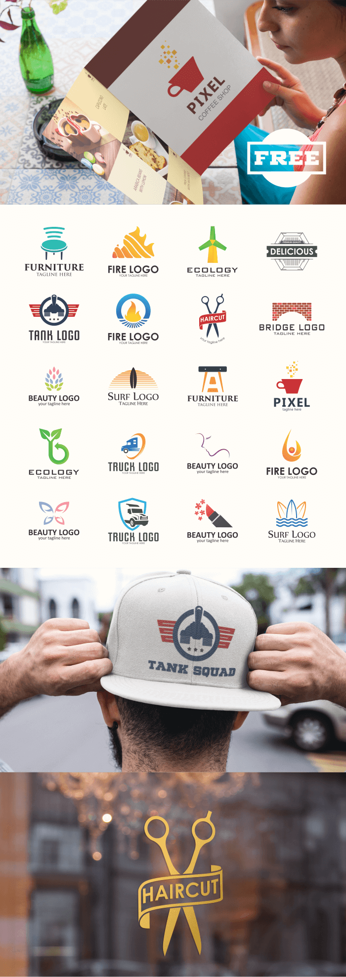 FREE - 20 Multi-Purpose Logo Design Collection