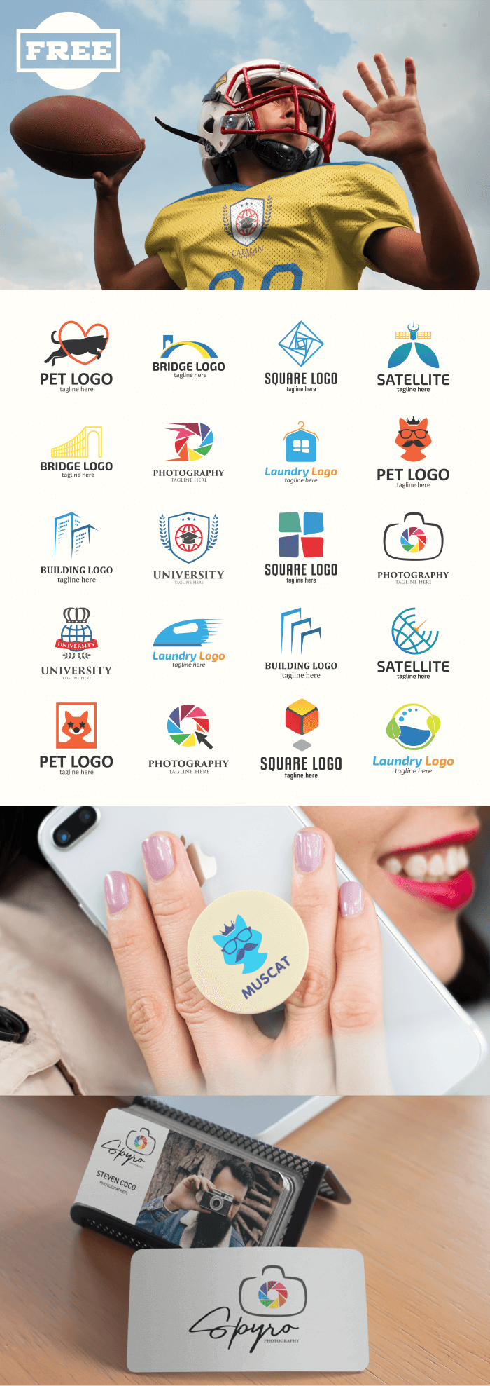 FREE - Dynamic Attractive Logo Design Collection