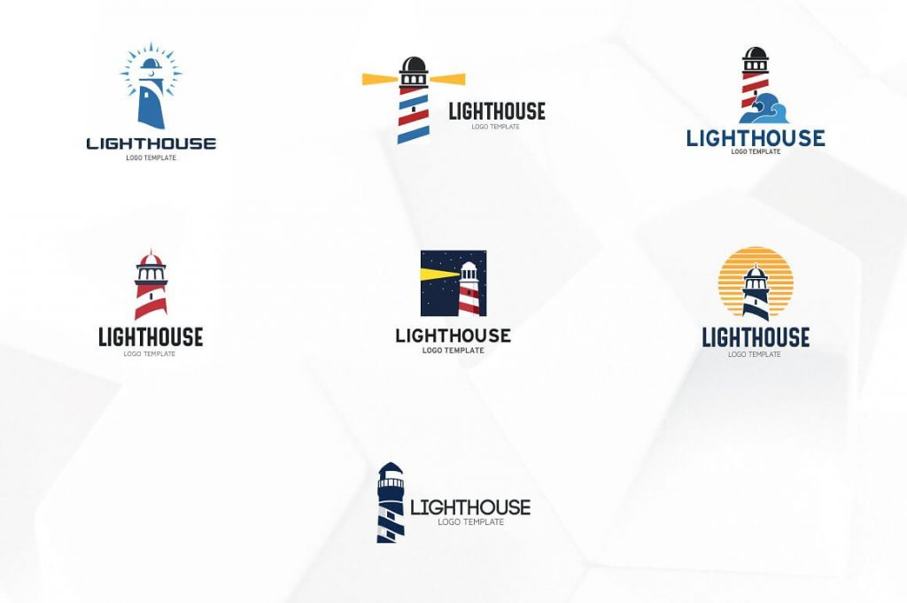 Lighthouse Logo Templates. preview 3