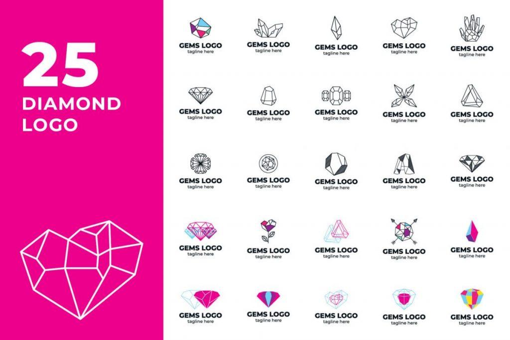 Logo Template Bundle DIAMOND LOGO