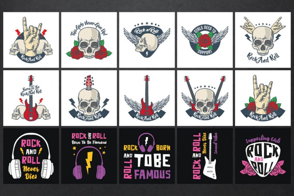 Rock Clipart Bundle - preview 1