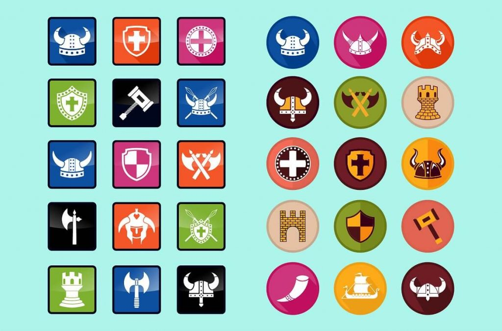Viking Symbols Clipart Set - preview