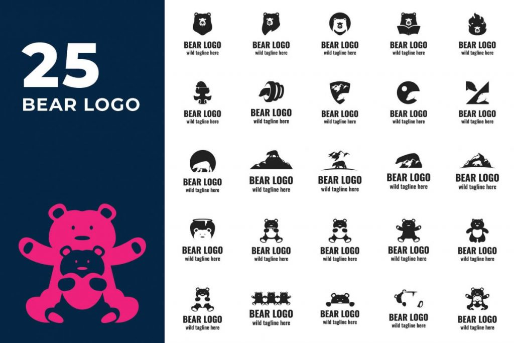 animal logo template - BEAR LOGO