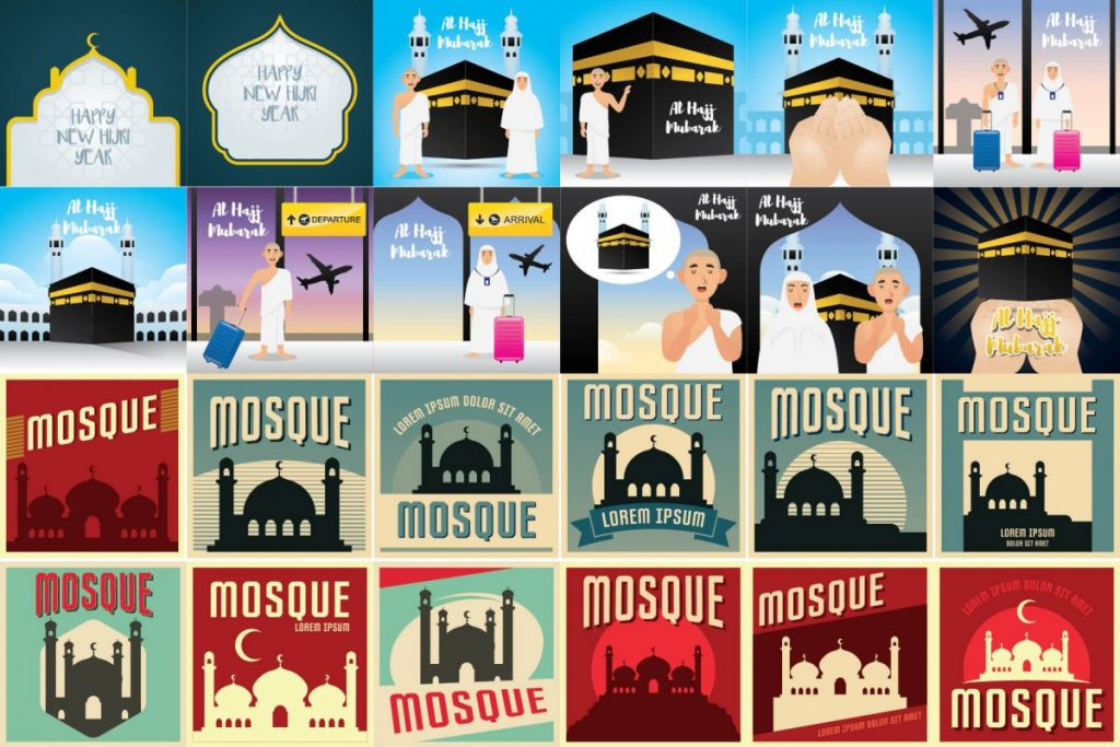 islamic art illustration bundle - preview 3