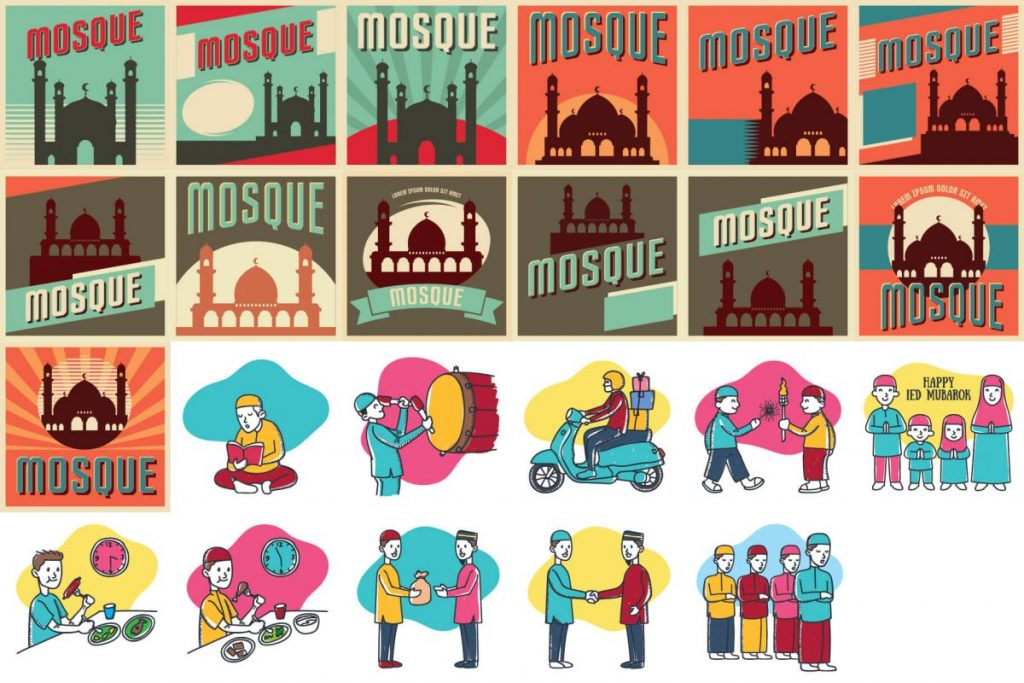 islamic art illustration bundle - preview 4
