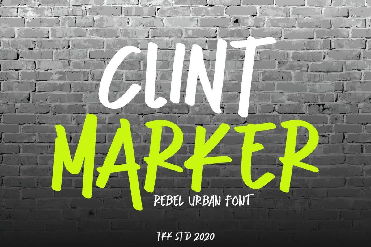 clint marker - graffiti font
