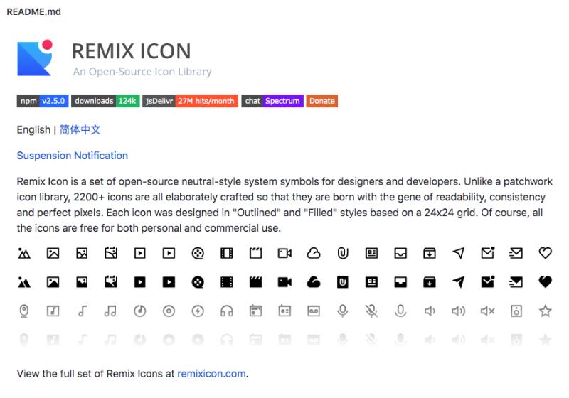 remix icon github