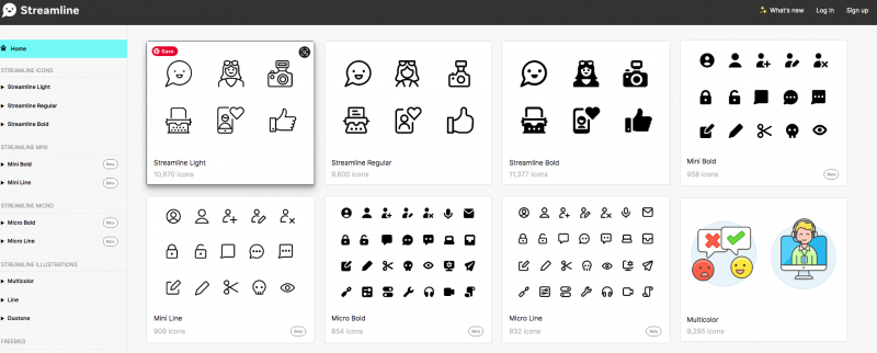 streamline icons web app