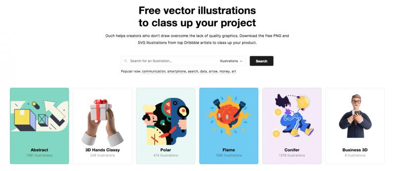 icons8 illustration homepage