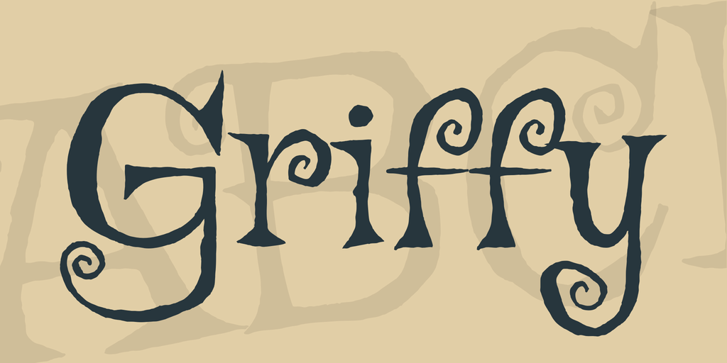 griffy - cartoon font
